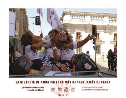 Papá León Llegando a La Moneda